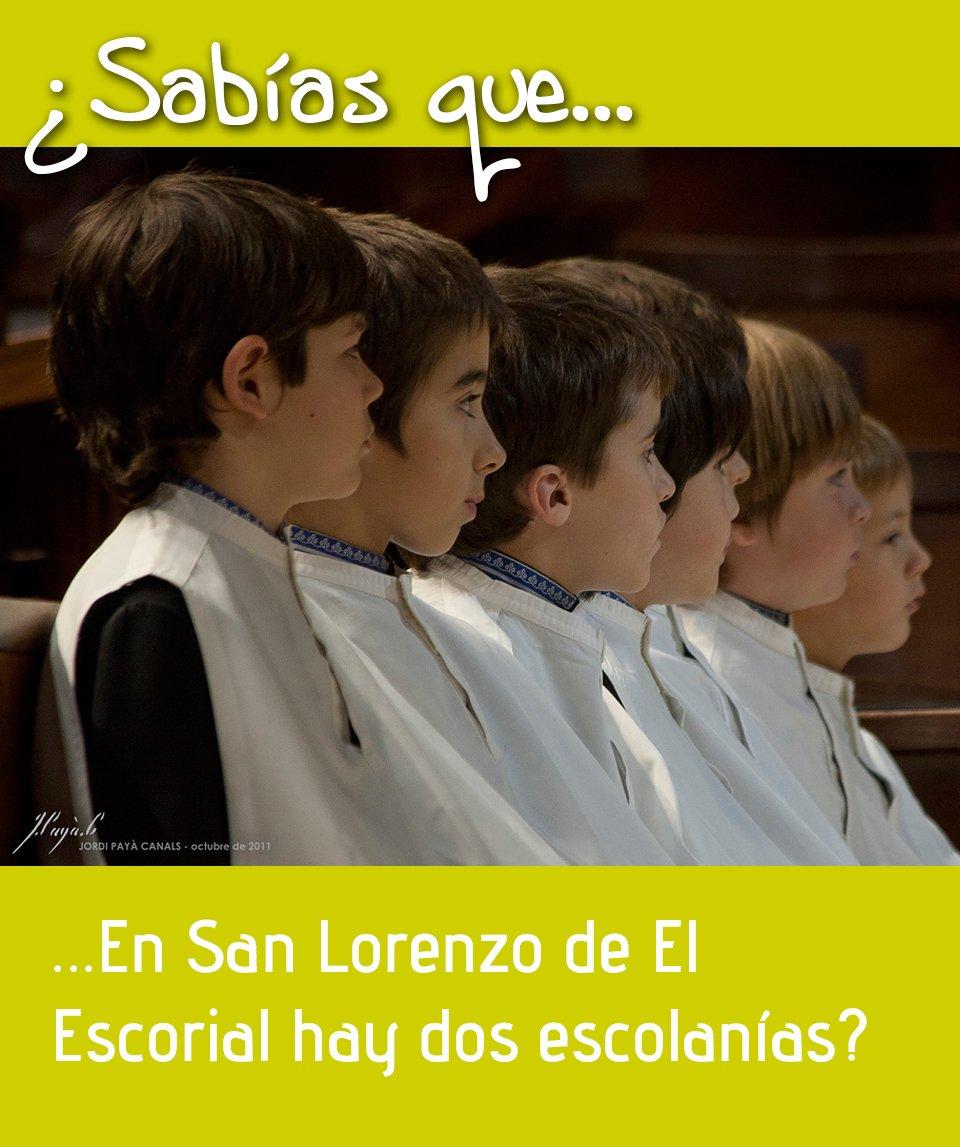Sabías que en San Lorenzo hay dos Escolanías